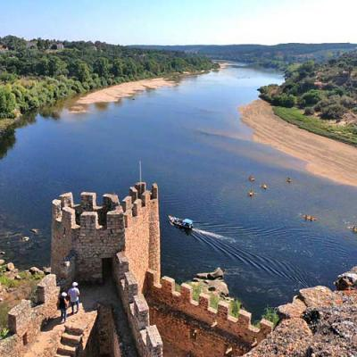 Almourol Castle And Tagus River